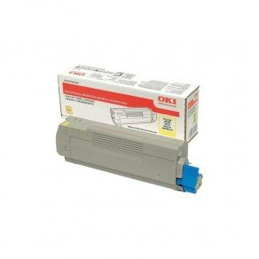 Oki 46490605 Yellow Toner Cartridge (6,000 Pages)