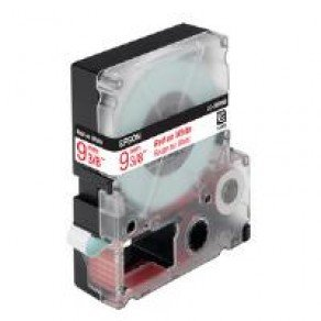 Epson LC-3WRN9 - 9mm x 9m - Red on White Tape C53S624407
