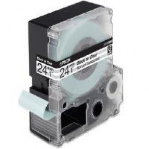 Epson LC-6TBN9 - 24mm x 9m - Black on Clear Tape