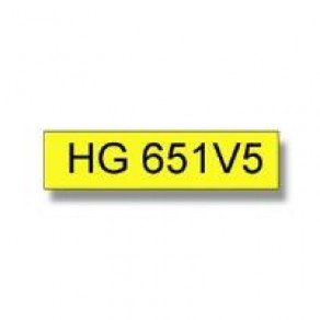 Brother HG 24mm Black On Yellow Tape (5 pack)