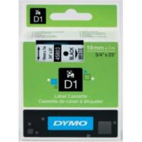 DYMO D1 45803 - 19mm x 7m - Black on White Tape