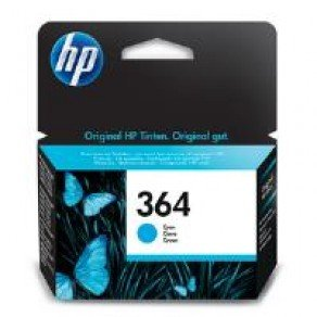 HP CB318EE#ABB No.364 Cyan Ink Cartridge (300 pages*) CB318EE