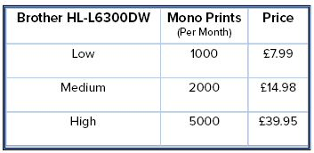 HL-L6300DW Pricing Table