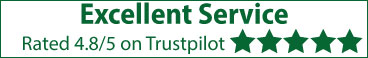 Trustpilot Rating - 4.8/5 Excellent Service