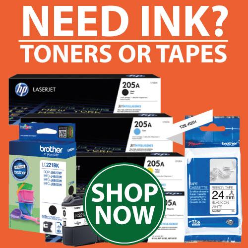 printerbase ink, toner or tapes banner